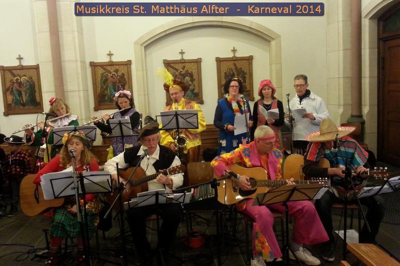 Musikkreis in der Karnevalsmesse 2014